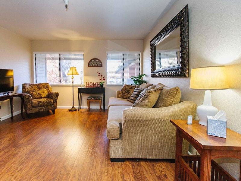 Sierra Regency resident living room