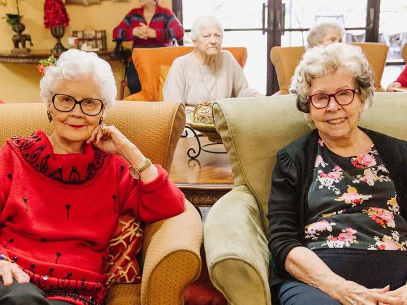 Sierra Regency friends comfortably seated.
