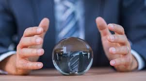 hands around a crystal ball