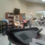 A band performing for the residents.