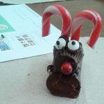A cupcake reindeer.