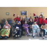 Residents celebrating Christmas.