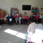 Christmas performance for the residents.