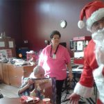 Santa with residents.