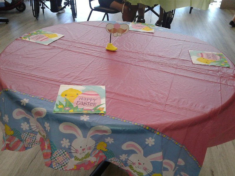 A table set for Easter.