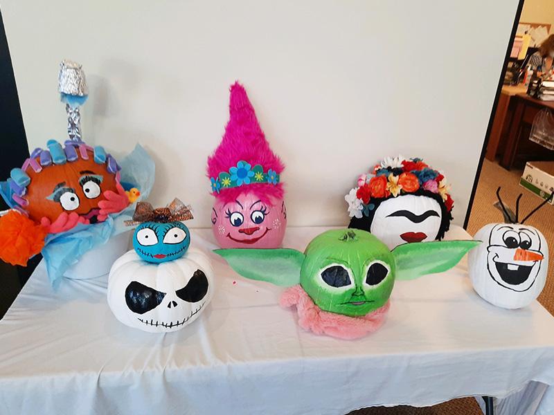 Painted Halloween Pumpkins