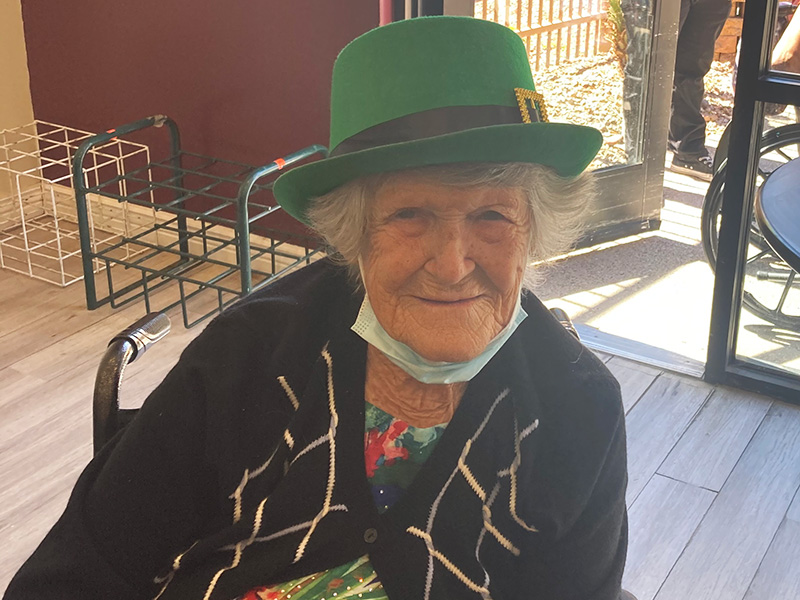 Residents enjoying Saint Patrick's Day!