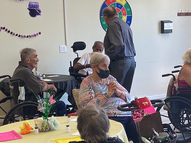 Residents in action at Oasis.
