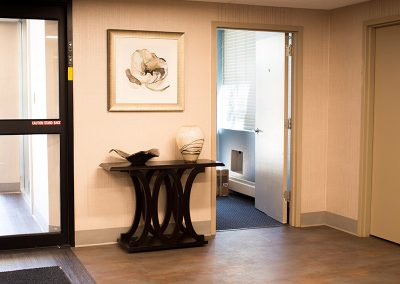 Entrance area with calming accents