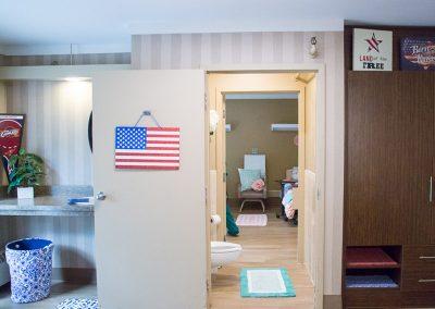 American flag resident room
