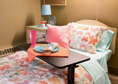 Customized resident room with butterfly accents