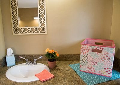 Customized resident room with female accents