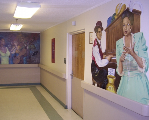 The hallway of Oak Trace Rehab