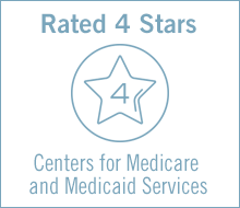 Rated 4-stars Centers for Medicare and Medicaid Services
