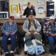 Three veterans enjoying the day