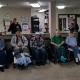 Elderly veterans smiling