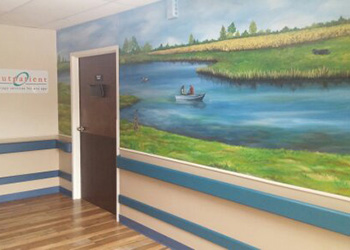A beautiful painting in one of the health centers