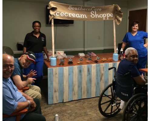 Terrace Oaks Southern Care ice cream shop