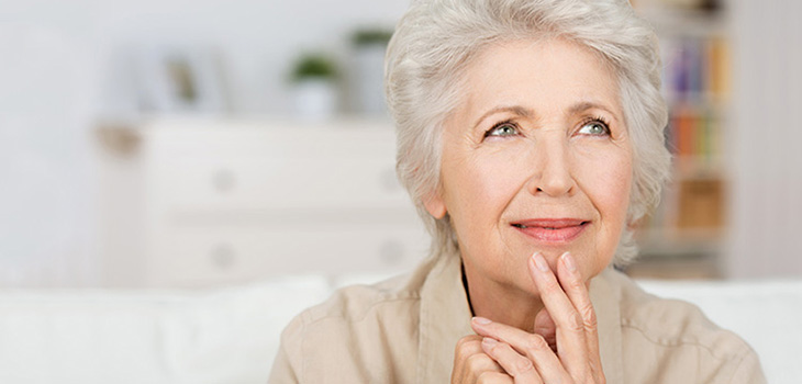 A woman pondering a decision - Terrace Oaks Care and ...