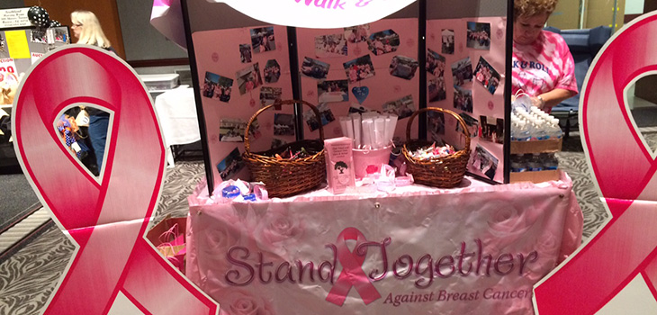 A breast cancer awareness table