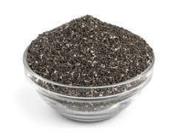 Chia seeds in a bowl.