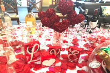A Table Decorated For Valentine's Day