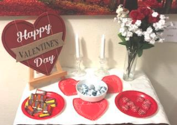 Treats On A Table For Valentine's Day