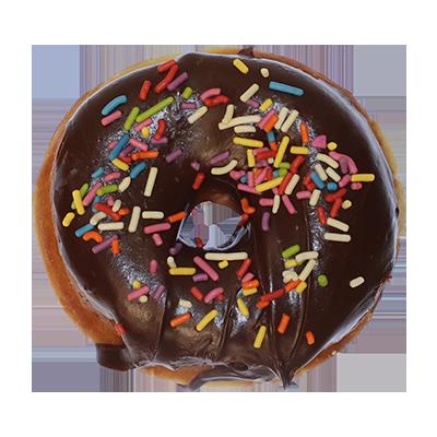 Valrhona Chocolate Glaze w Sprinkles Donut