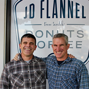 John and Dave – JD Flannel partners