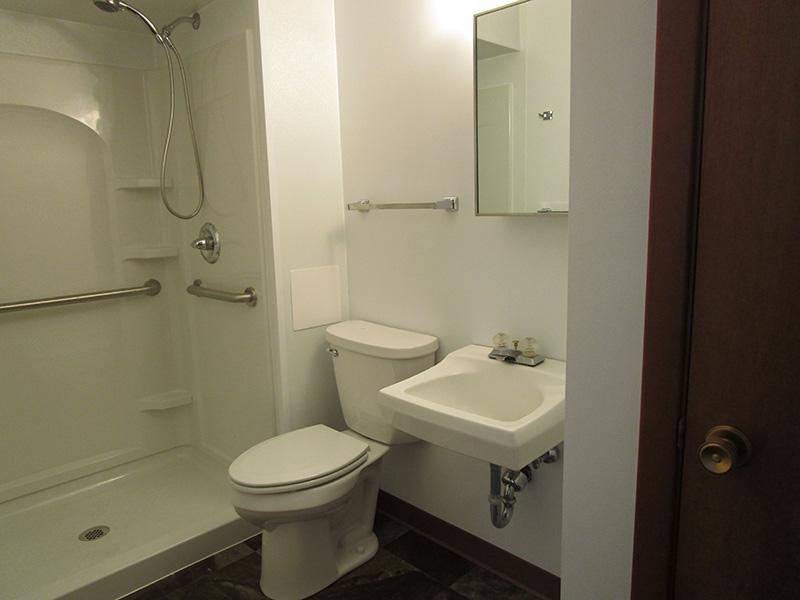 bathroom inside Westview Apartments