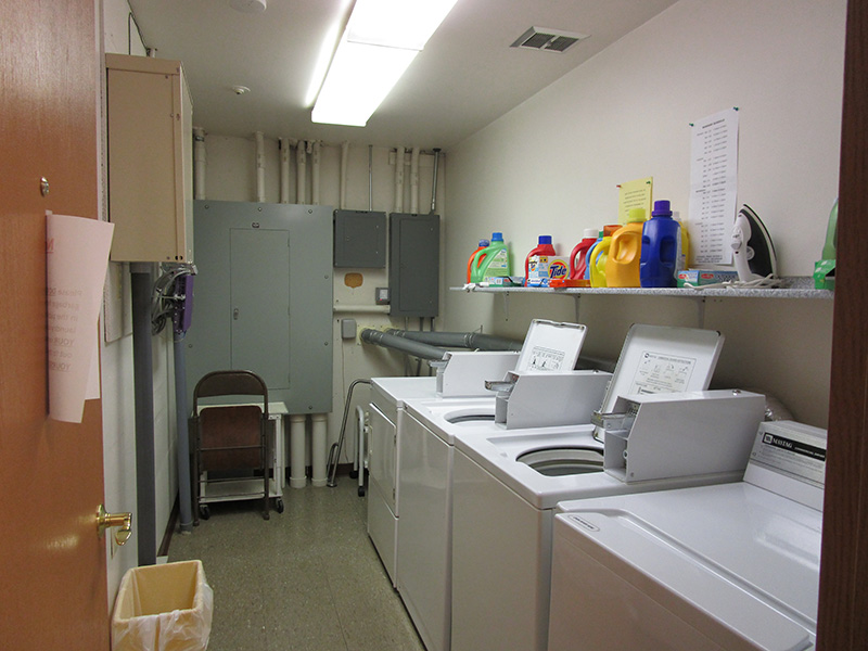 laundry room inside Westview Apartments