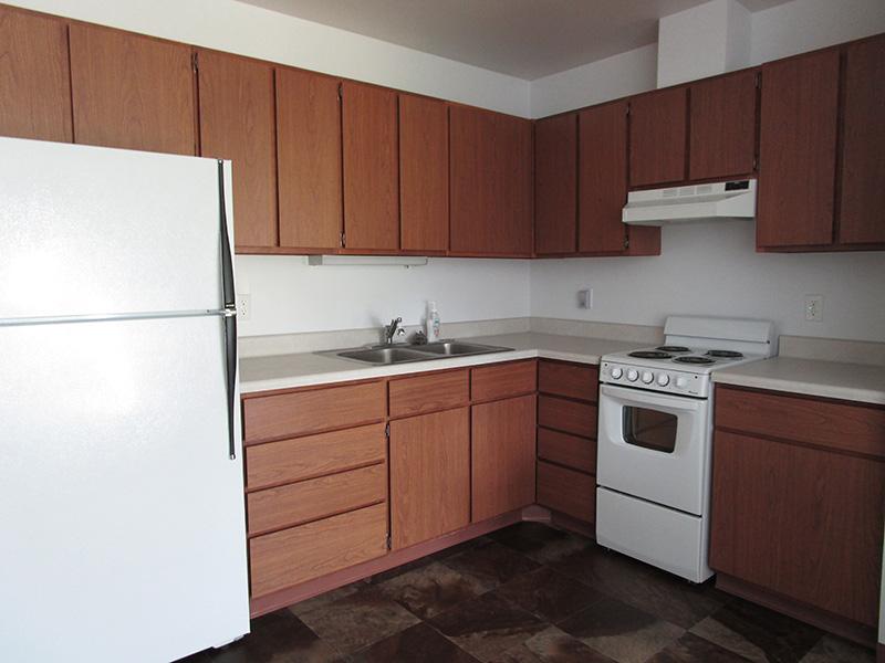 kitchen inside Westview Apartments