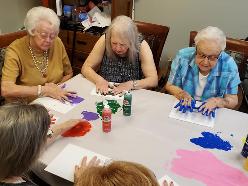 Finger painting craft day