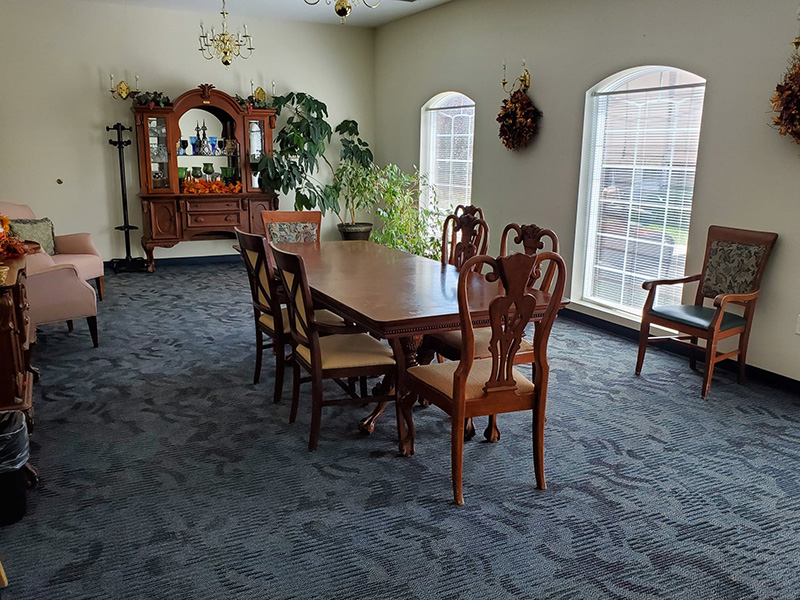 Private dining room at Lincoln Community Nursing Home
