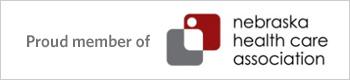 Proud Member of Nebraska Health care association button