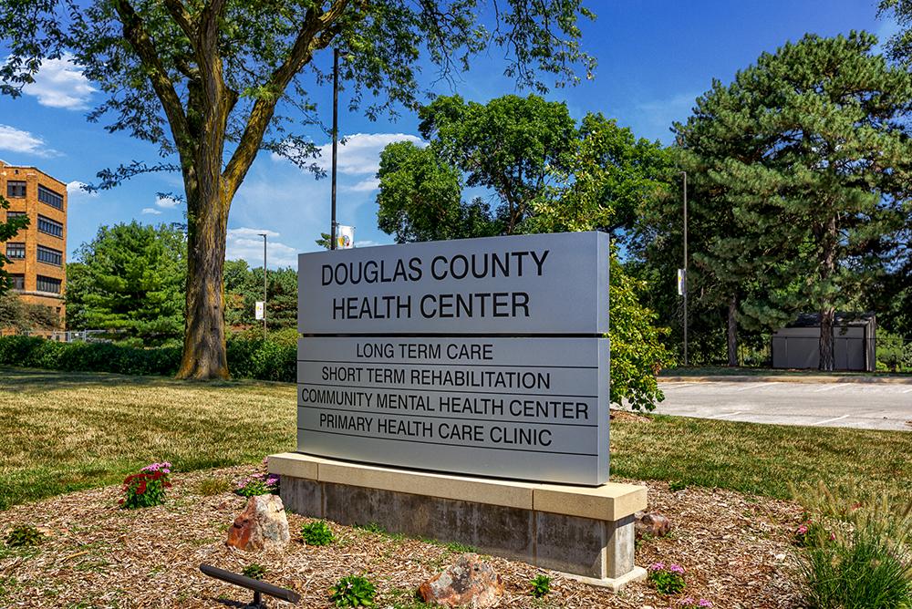 Douglas County Health Center Sign