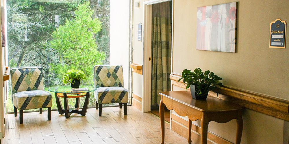 chairs inside hallway