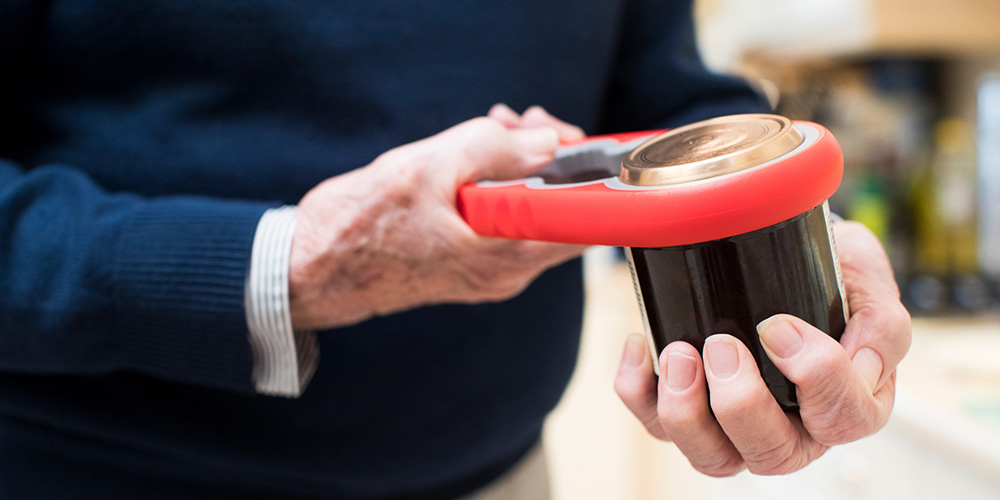 Man opening a jar