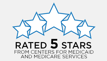 5 star rated by medicare