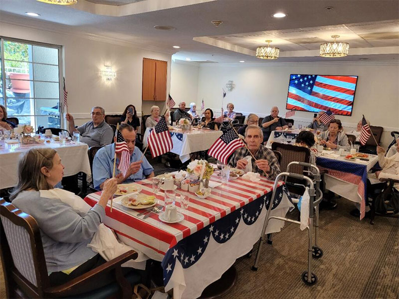 Residents celebrating the 4th of July!