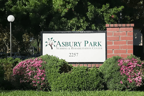 Sign in front of Asbury park