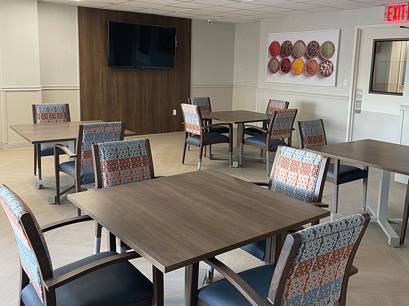 Semi-private suite at Eastchester's new dining hall