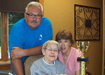 residents with a trophy