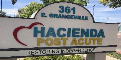 hacienda post acute front sign