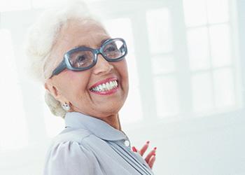 elderly woman cheerful