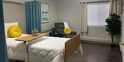 single bed at hacienda post acute facility