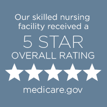 Medicare 5-star badge and link to Medicare website