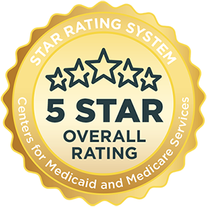 Medicare 5-star overall rating badge