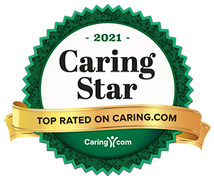 2021 Caring Star Top Rated on Caring.com Award