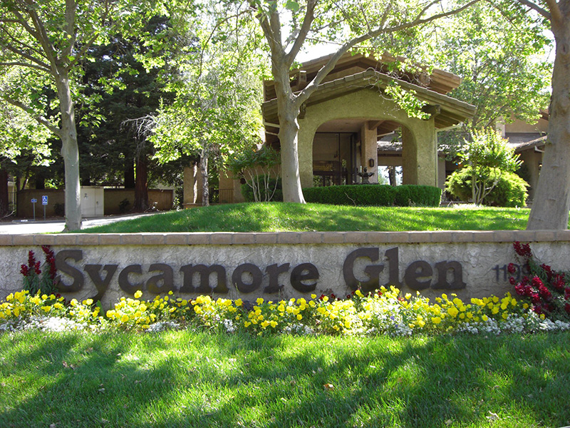 Front of Sycamore Glen building